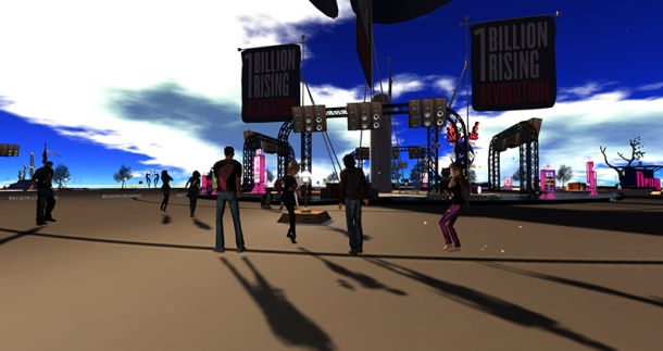 One Billion Rising in Second Life, photographed by Wildstar Beaumont