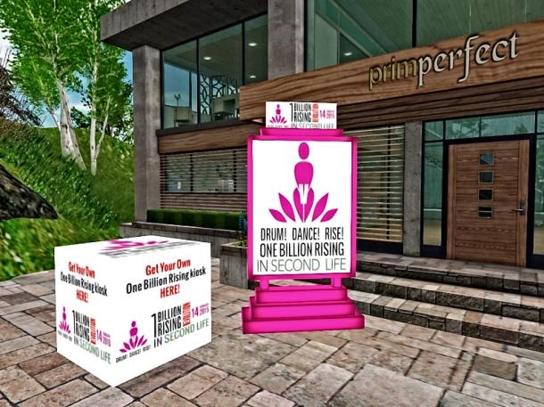 One Billion Rising Kiosk