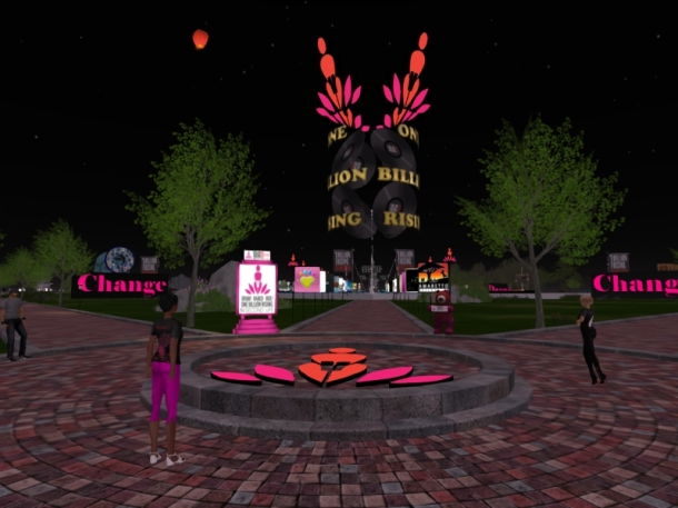 The way to One Billion Rising in Second Life is Open!